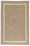 Shear Natural Rectangle Braided Wool Rug, EN33 Muslin
