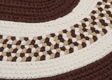 Flowers Bay Indoor Outdoor Oval Braided Rug, FB81 Brown