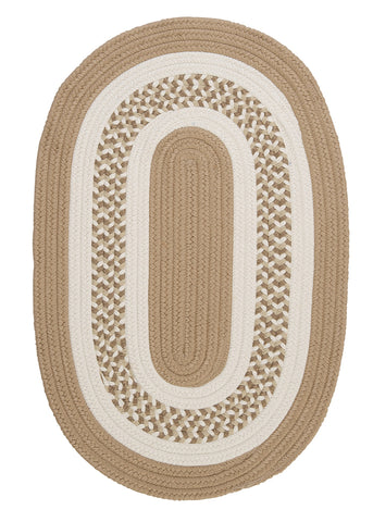 Flowers Bay Indoor Outdoor Oval Braided Rug, FB91 Cuban Sand