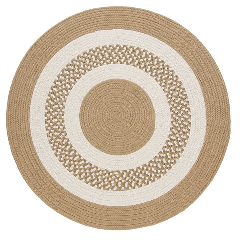 Flowers Bay Indoor Outdoor Round Braided Rug, FB91 Cuban Sand