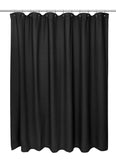 Black Waffle Weave Cotton Shower Curtain in 2 Sizes