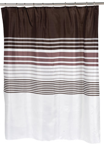 Contemporary Stripes Fabric Shower Curtain