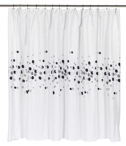"A Few Dots 70""x72"" Water Resistant Fabric Shower Curtain"
