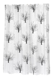 "Bare Branches Black Trees Extra Long 70""x84"" Fabric Shower Curtain"