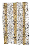 Animal Print Safari Theme Fabric Shower Curtain in 2 Sizes