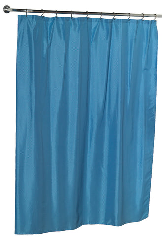Diamond Dobby Fabric Shower Curtain in Light Blue