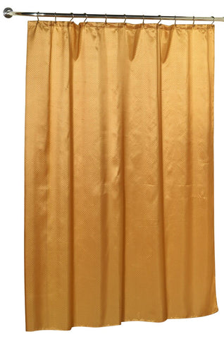 Diamond Dobby Fabric Shower Curtain in Gold