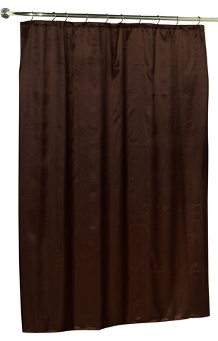 Diamond Dobby Fabric Shower Curtain in Brown