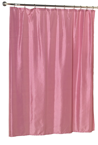 Diamond Dobby Fabric Shower Curtain in Rose Pink