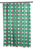 Poinsettia Blooms Fabric Shower Curtain