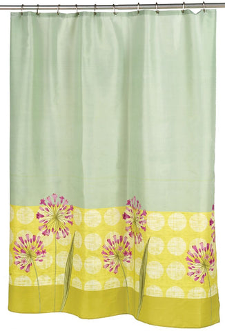 Touch of Floral Contemporary Fabric Shower Curtain