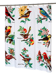 Bird Themed Fabric Shower Curtain