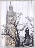 Big Ben Clock Tower Fabric Shower Curtain