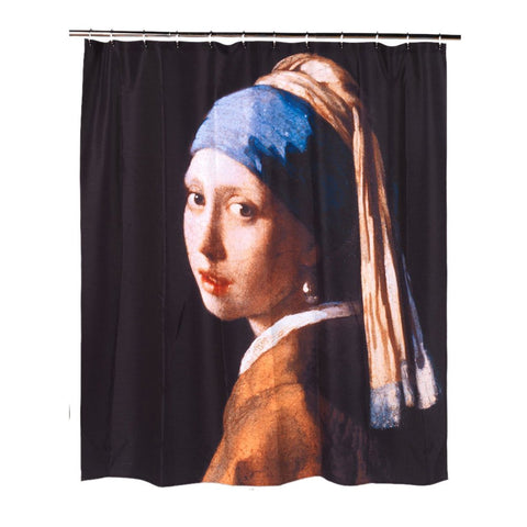 Girl with the Pearl Earring Fabric Shower Curtain