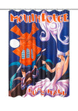 Moulin Rouge Music Hall Fabric Shower Curtain