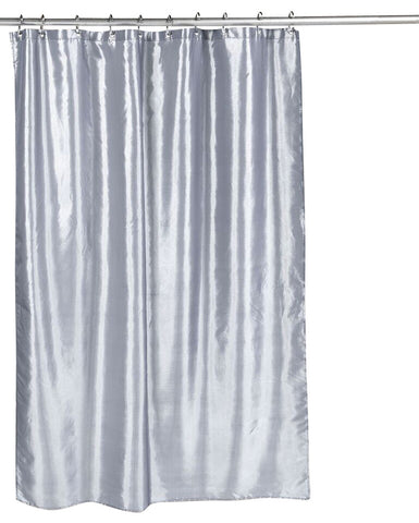 Pewter Shimmer Faux Silk Fabric Shower Curtain TntCommodities