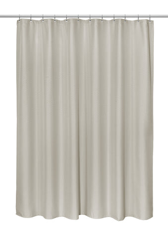 "Grace 70""x84"" Heavy Weight Jacquard Polyester Shower Curtain in Grey"