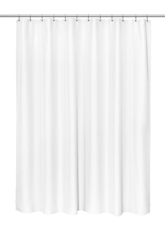 "Grace 70""x84"" Heavy Weight Jacquard Polyester Shower Curtain in White"