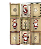 Americana Holiday with Santa Fabric Shower Curtain
