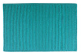 At Home Indoor Outdoor Rectangle Braided Rug, H049 Turquoise
