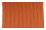 At Home Indoor Outdoor Rectangle Braided Rug, H073 Rust