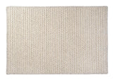 100% All Natural Wool Houndstooth Rectangle Rug, HD31 Cream