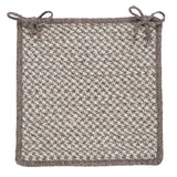 100% All Natural Wool Houndstooth Square Chair Pad, HD32 Latte