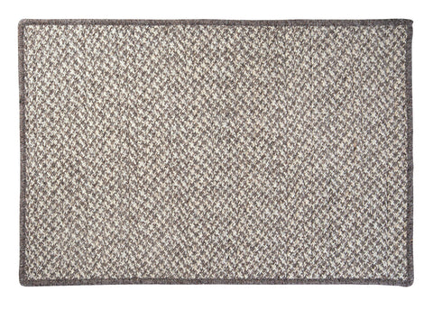 100% All Natural Wool Houndstooth Rectangle Rug, HD32 Latte