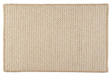 100% All Natural Wool Houndstooth Rectangle Rug, HD33 Tea