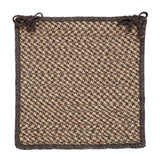 100% All Natural Wool Houndstooth Square Chair Pad, HD34 Caramel