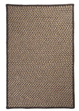 100% All Natural Wool Houndstooth Rectangle Rug, HD34 Caramel
