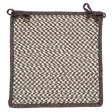 100% All Natural Wool Houndstooth Square Chair Pad, HD36 Espresso