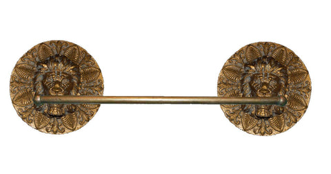 "Lion Medallion 31"" Towel Bar in 60 Colors"