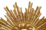 Sunburst Extravaganza Wall Mirror Antique Reproduction, Gold Leaf Color Finish