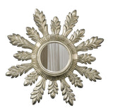 Acanthus Leaf Wall Mirror Antique Reproduction in Shimmer Color Finish