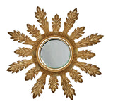 Acanthus Leaf Flare Wall Mirror Antique Reproduction in 60 Colors