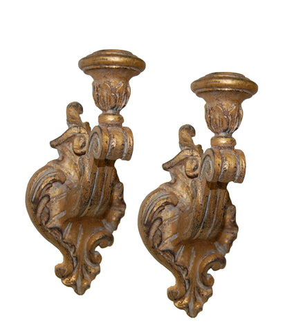 Victorian Candle Holder Wall Sconce 2-Piece Set in 60 Colors