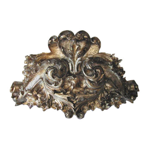 Olde World Ornate Leaf Bed Crown in Shimmer Color Finish
