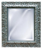 Elegant Embossed Style Wall Mirror, Gilt Silver Color Finish