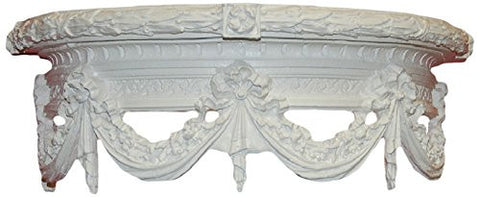 Olde World Swag Canopy Bed Crown in Bright White Color Finish