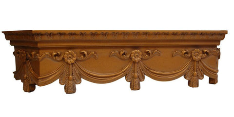 Olde World Cornice Box Style Swag Bed Crown in 60 Colors