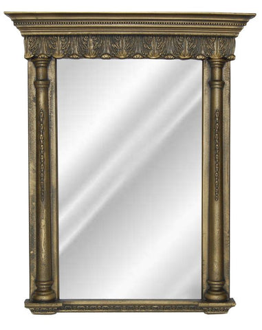 Acanthus Trim and Columns Wall Mirror Antique Reproduction in 60 Colors