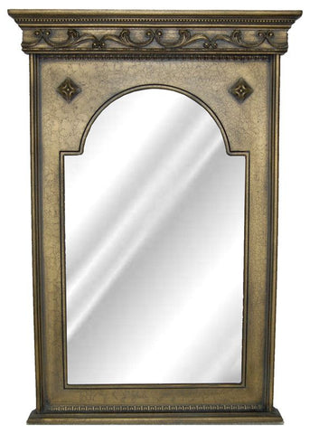Crested Wall Mirror Antique Reproduction in 25 Colors