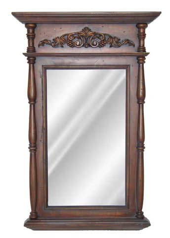 Classic Motif with Columns Wall Mirror Antique Reproduction in 60 Colors