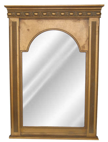 Beaded Dart Top with Fluted Columns Wall Mirror Antique Reproduction in 60 Colors