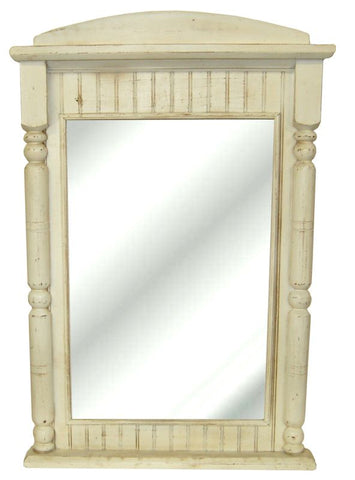 Country Beadboard with Post-Style Columns Wall Mirror in 60 Colors