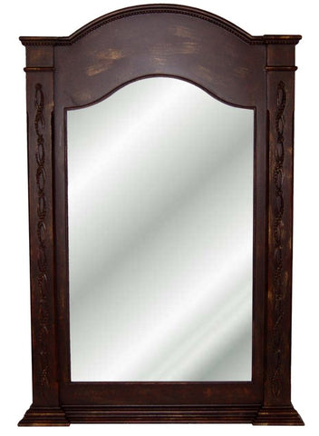 Classic Style Arched Wall Mirror Antique Reproduction in 60 Colors