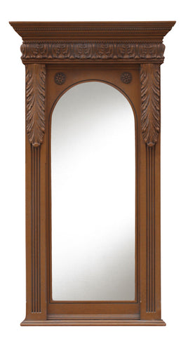 Beaded Top and Acanthus Trim Wall Mirror in 60 Colors