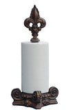 Fleur de Lis Top Standing Paper Towel Holder in 60 Colors