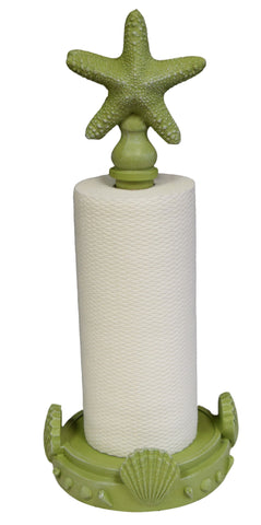 Starfish Top Standing Paper Towel Holder in Coastal Green Color Finish